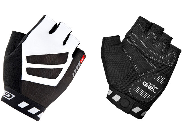 GripGrab WorldCup Short Finger Padded Gloves black/white
